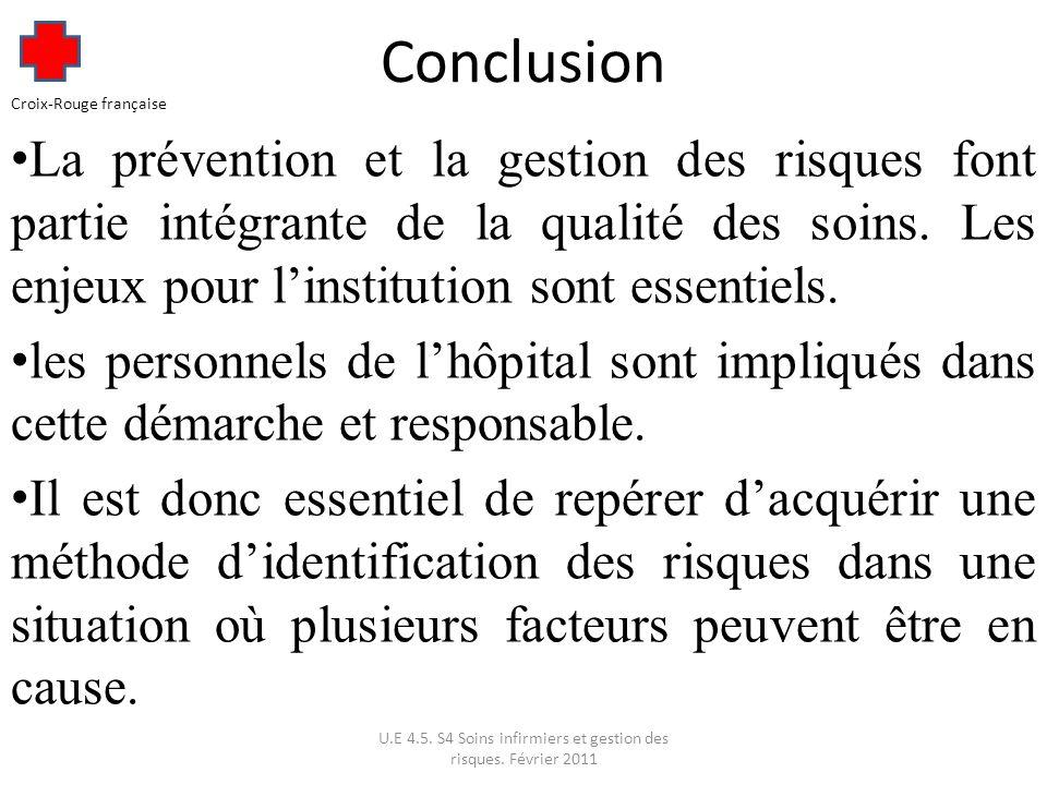 U.E 4.5. S4 Soins infirmiers et gestion des risques. Février 2011