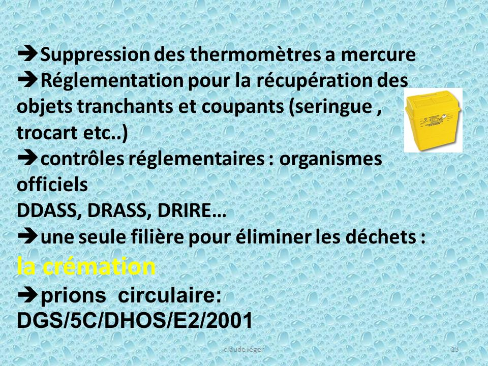 Suppression des thermomètres a mercure