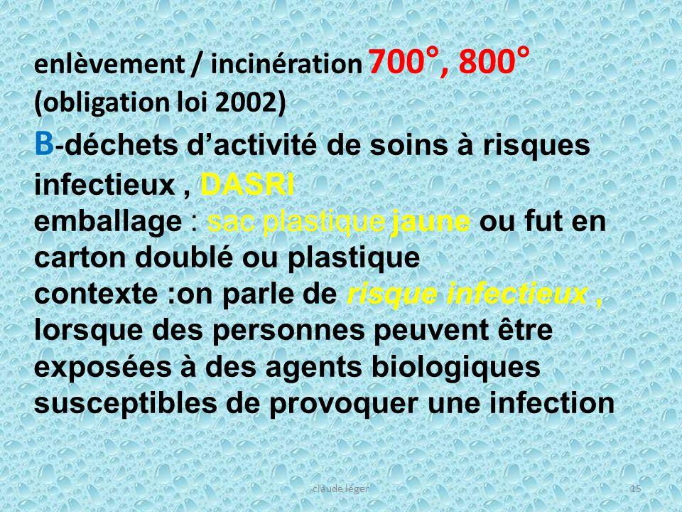 B-déchets d'activité de soins à risques infectieux , DASRI