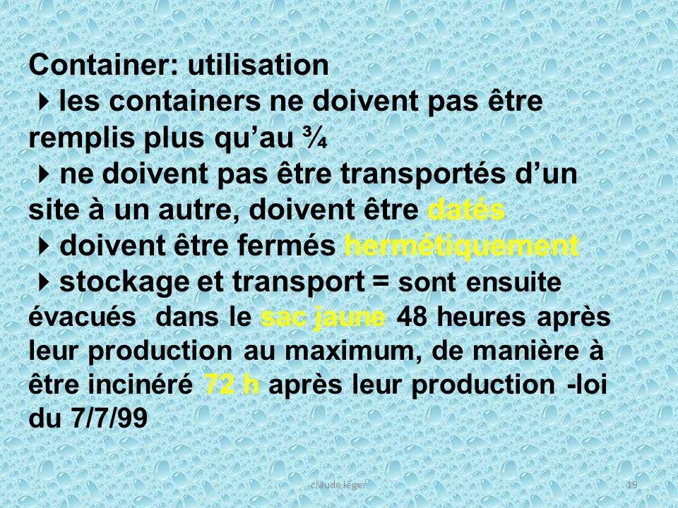 Container: utilisation les containers ne doivent pas être