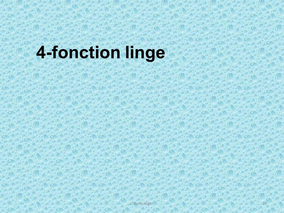 4-fonction linge claude léger
