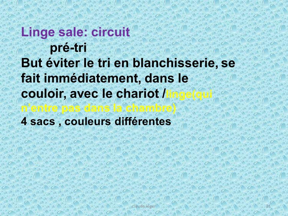 Linge sale: circuit pré-tri