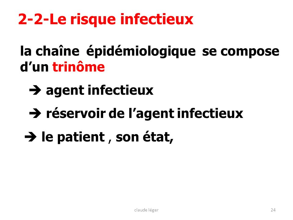 2-2-Le risque infectieux