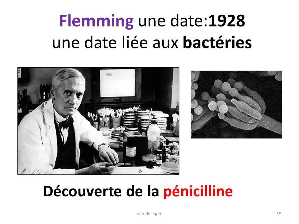 Flemming une date:1928 une date liée aux bactéries