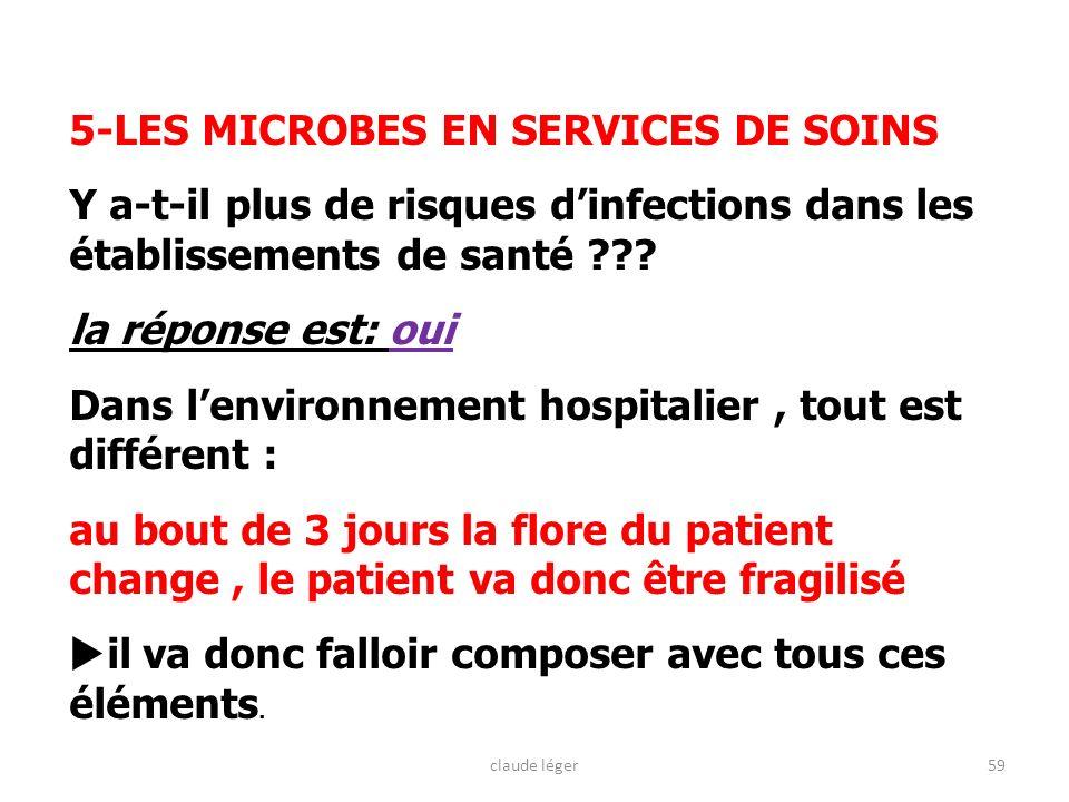 5-LES MICROBES EN SERVICES DE SOINS