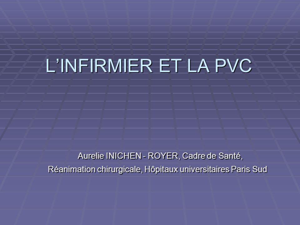 L'INFIRMIER ET LA PVC Aurelie INICHEN - ROYER, Cadre de Santé,