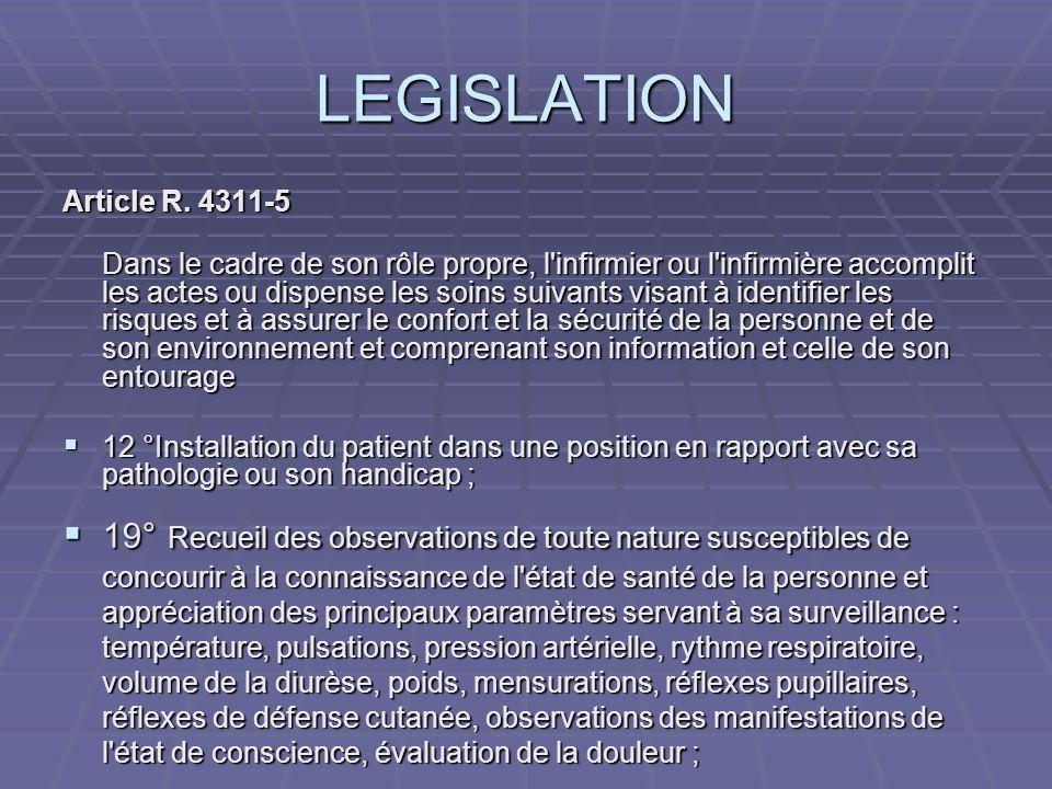 LEGISLATIONArticle R. 4311-5.
