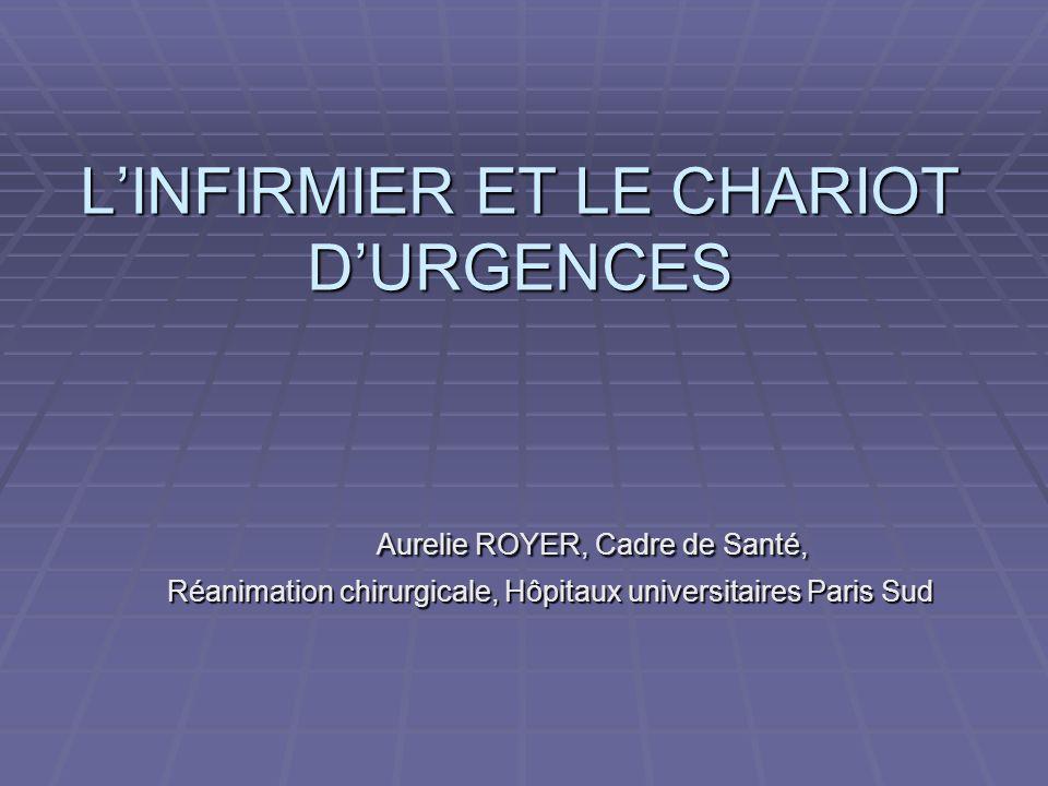 L'INFIRMIER ET LE CHARIOT D'URGENCES