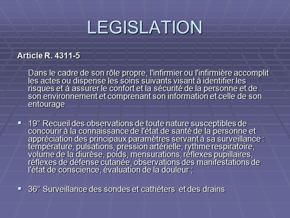 LEGISLATION Article R. 4311-5
