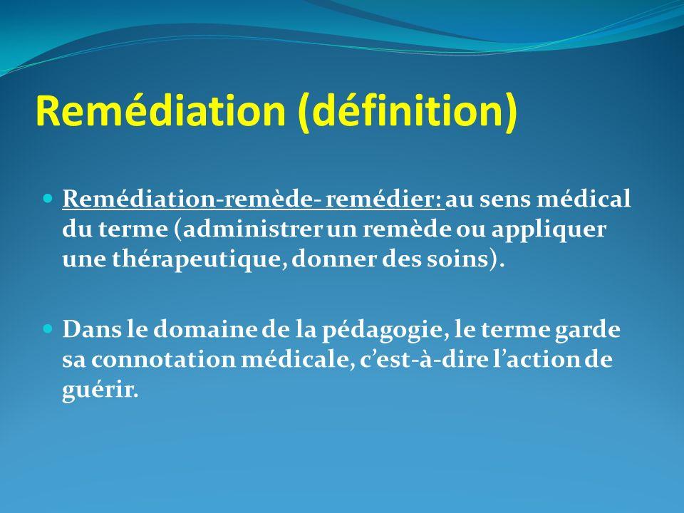 Remédiation (définition)