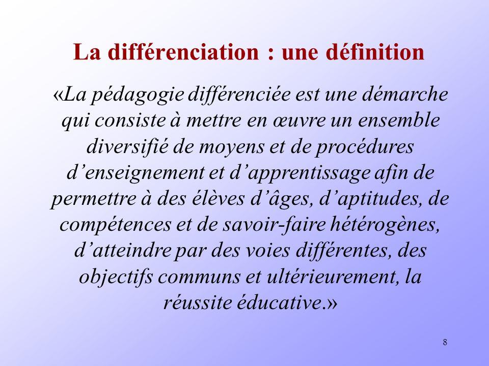 La différenciation : une définition