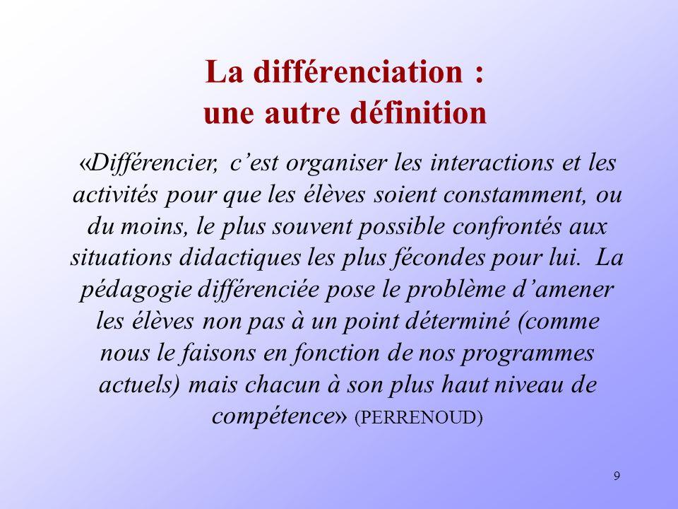 La différenciation : une autre définition