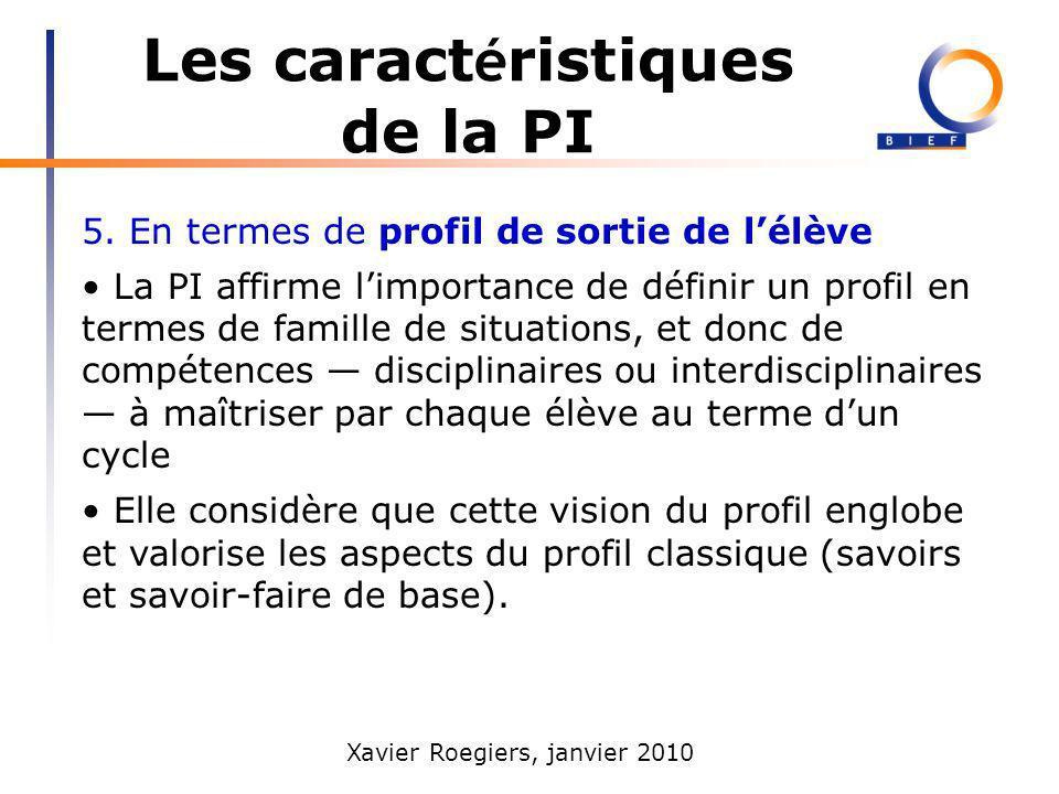 Les caractéristiques de la PI