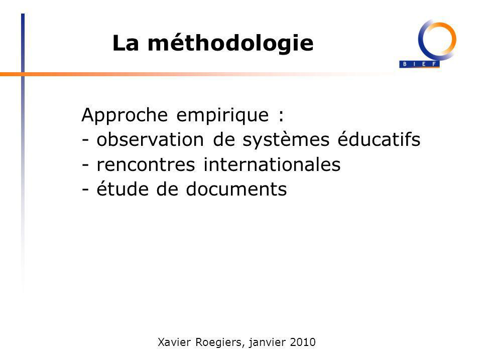 La méthodologie Approche empirique : observation de systèmes éducatifs