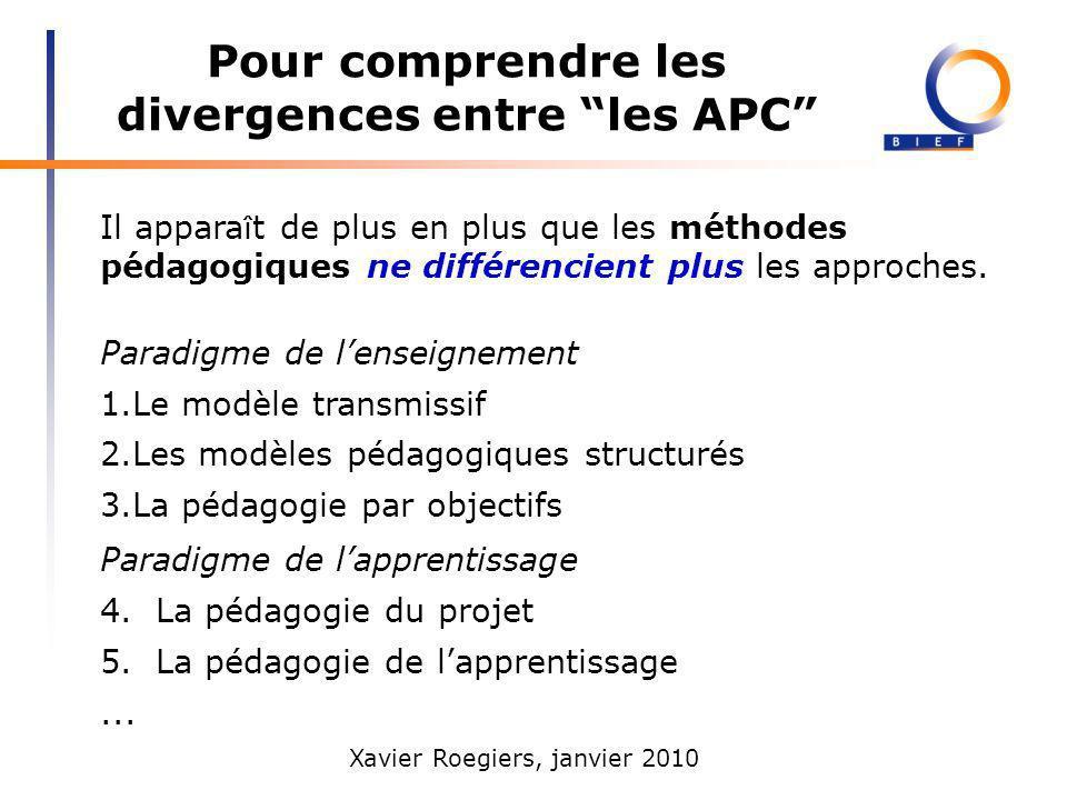Pour comprendre les divergences entre les APC