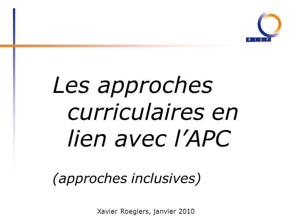 Les approches curriculaires en lien avec l'APC