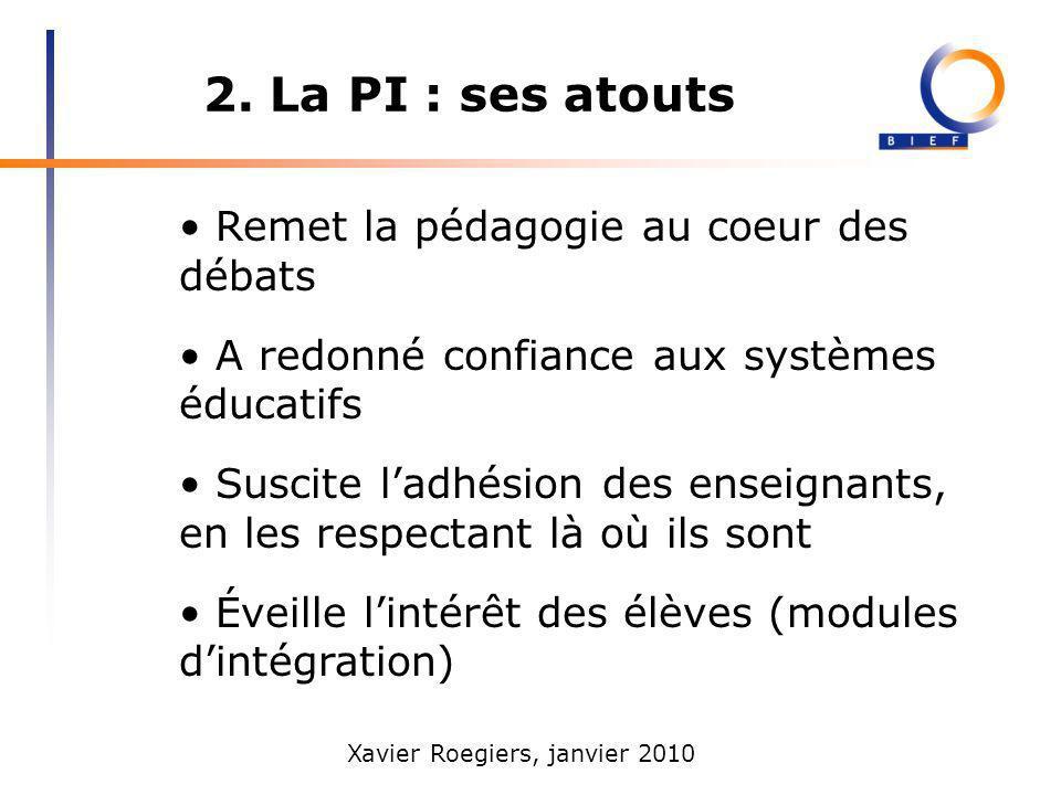 2. La PI : ses atouts • Remet la pédagogie au coeur des débats