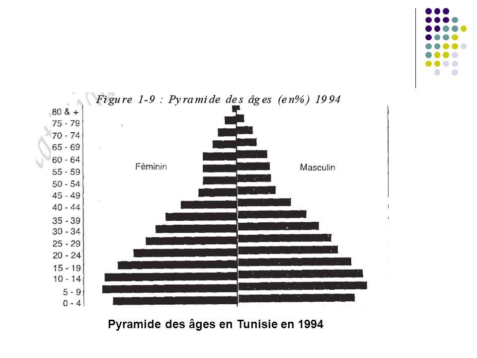 Pyramide des âges en Tunisie en 1994