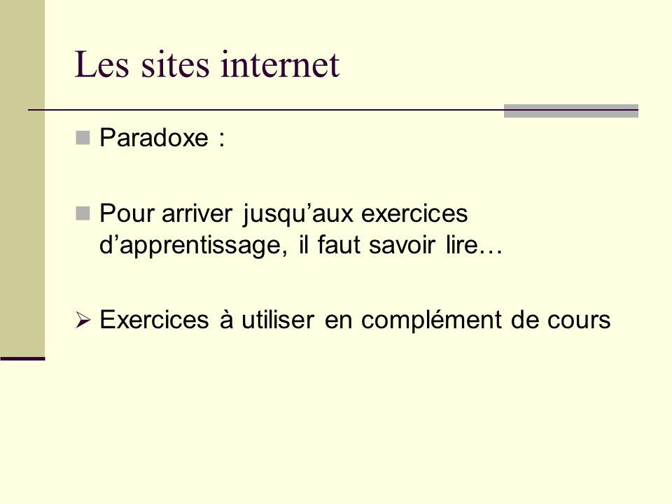 Les sites internet Paradoxe :