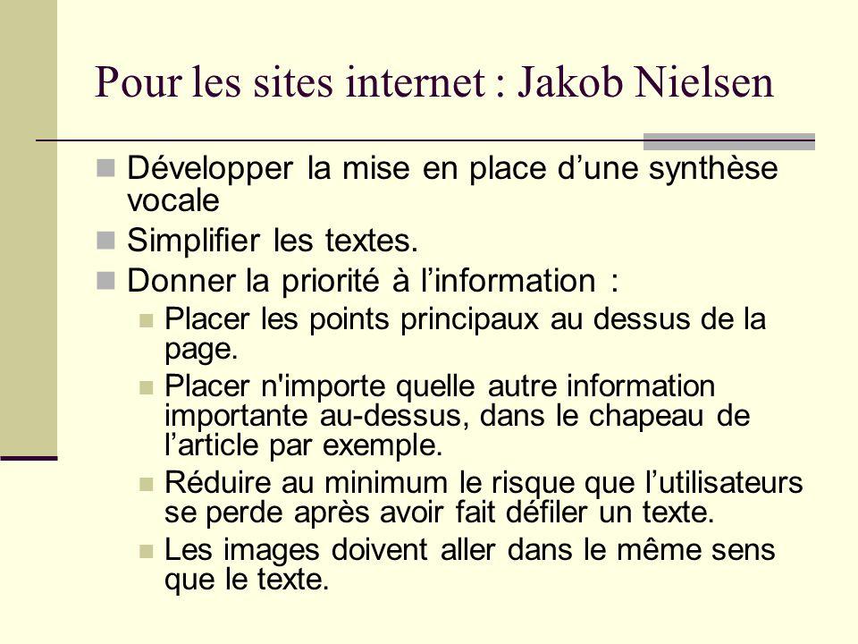 Pour les sites internet : Jakob Nielsen