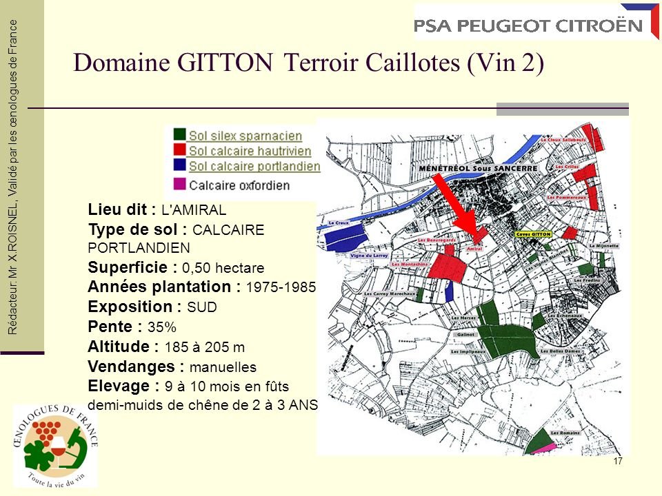 Domaine GITTON Terroir Caillotes (Vin 2)