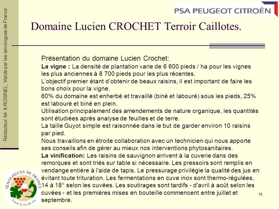 Domaine Lucien CROCHET Terroir Caillotes.