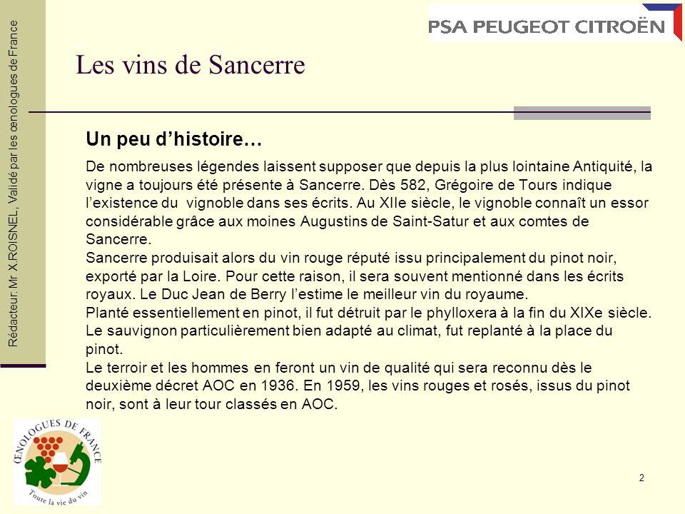 Les vins de Sancerre Un peu d'histoire…