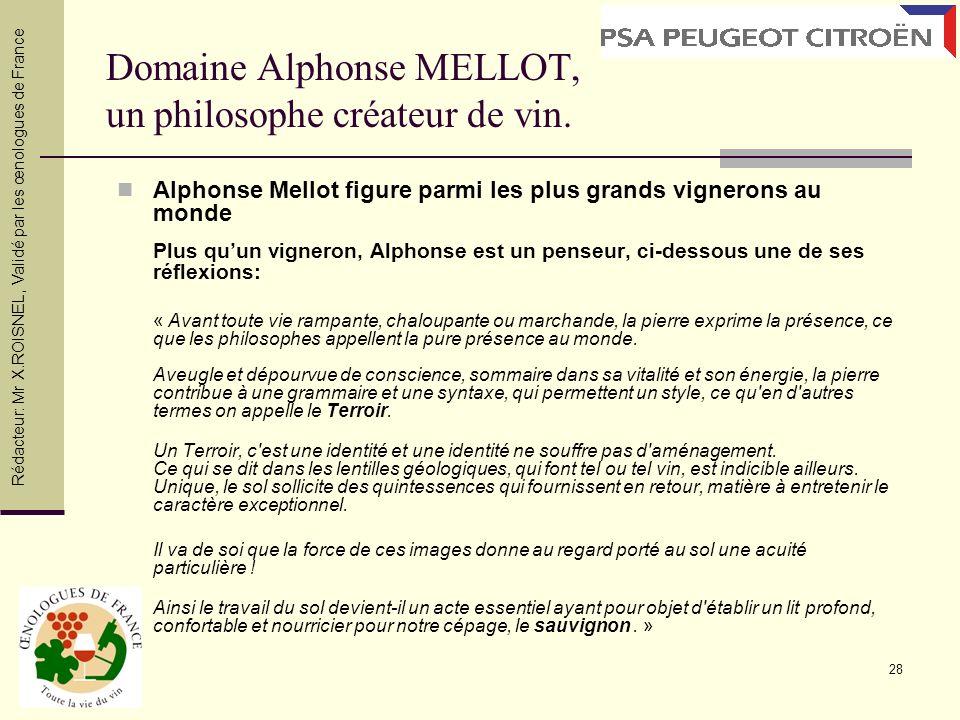 Domaine Alphonse MELLOT, un philosophe créateur de vin.