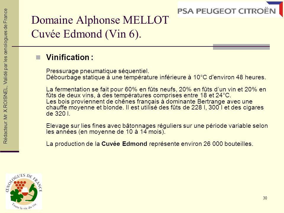 Domaine Alphonse MELLOT Cuvée Edmond (Vin 6).