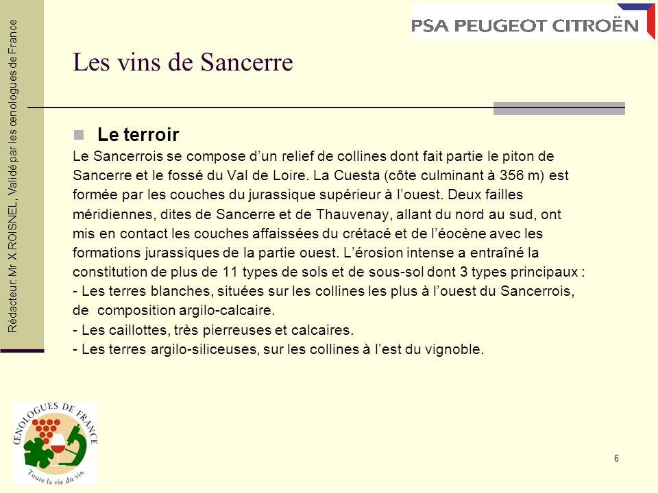 Les vins de Sancerre Le terroir