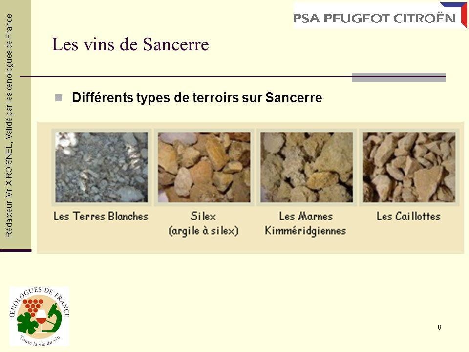 Les vins de Sancerre Différents types de terroirs sur Sancerre