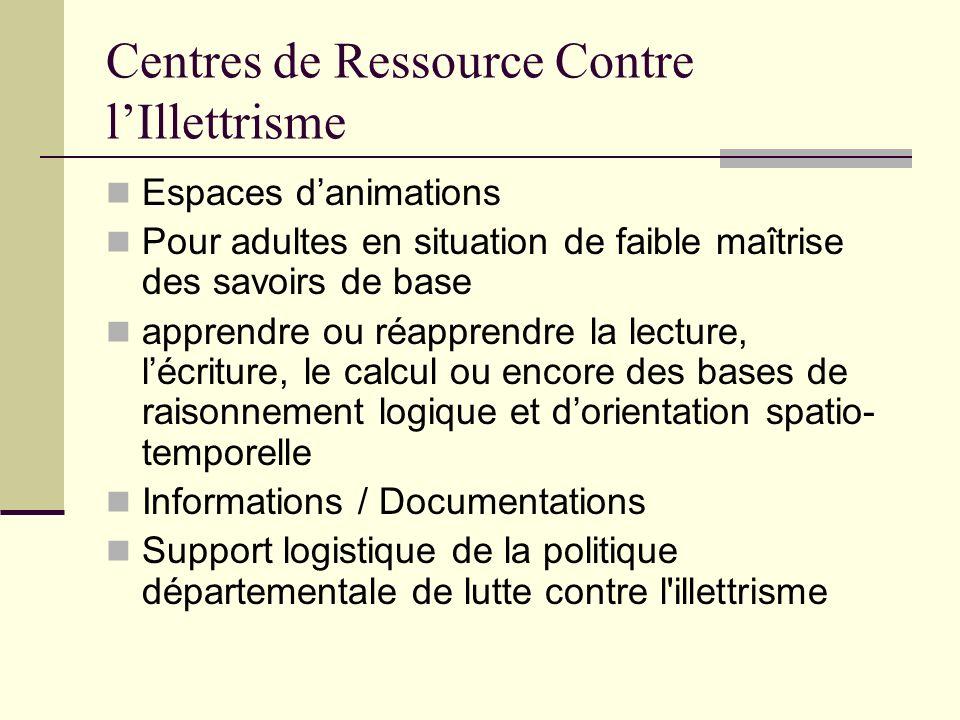 Centres de Ressource Contre l'Illettrisme