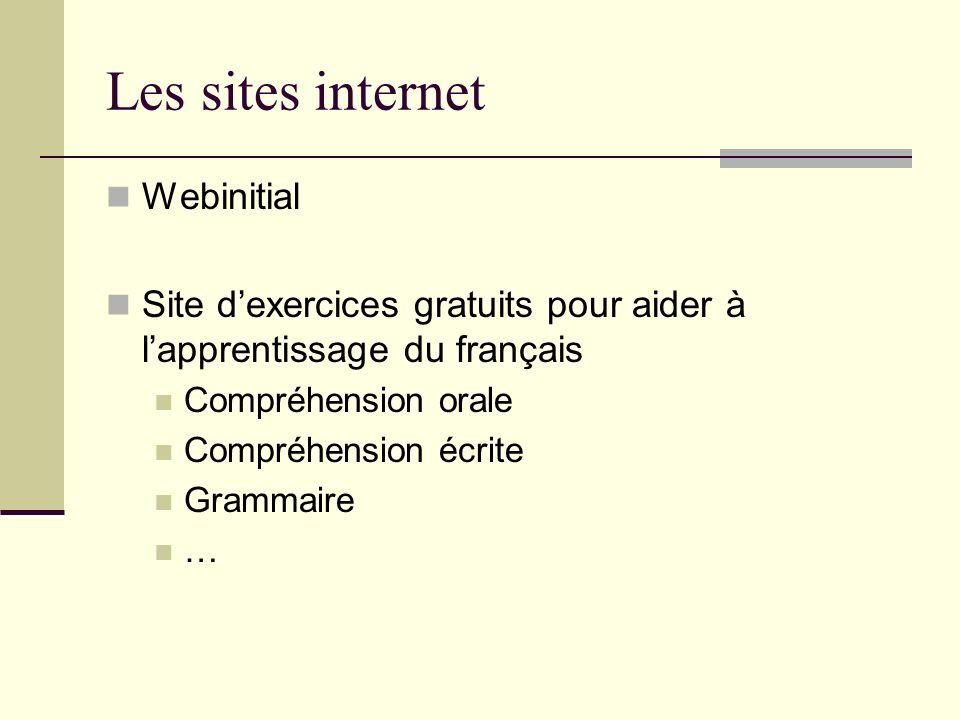 Les sites internet Webinitial