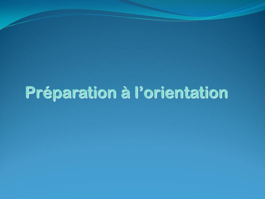 Préparation à l'orientation