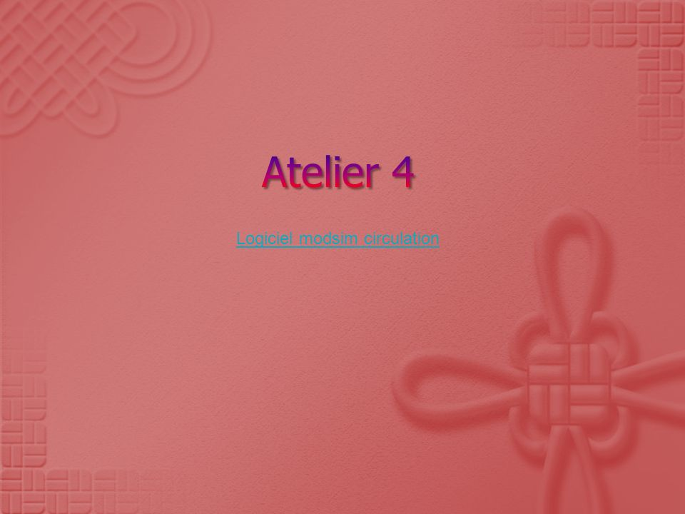 Atelier 4 Logiciel modsim circulation