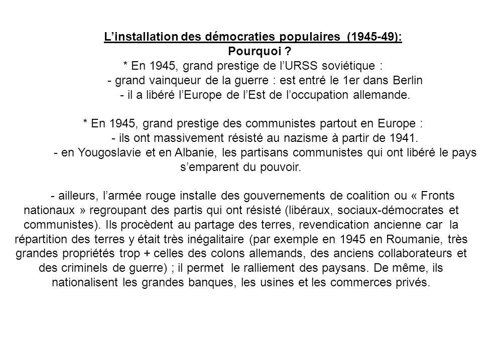L'installation des démocraties populaires (1945-49): Pourquoi