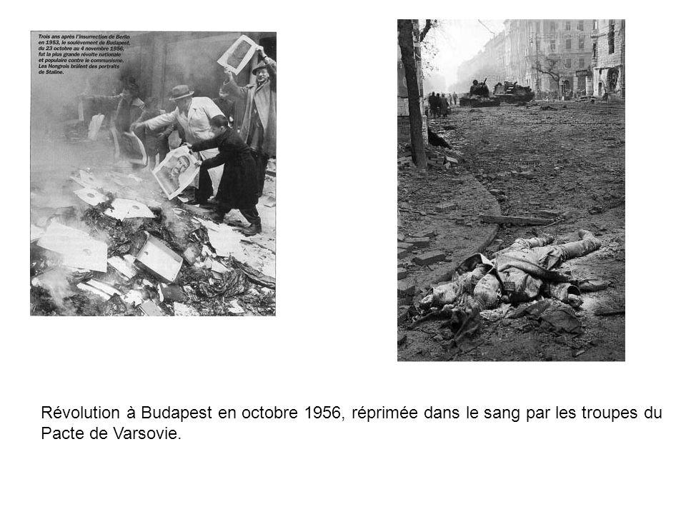 Révolution à Budapest en octobre 1956, réprimée dans le sang par les troupes du