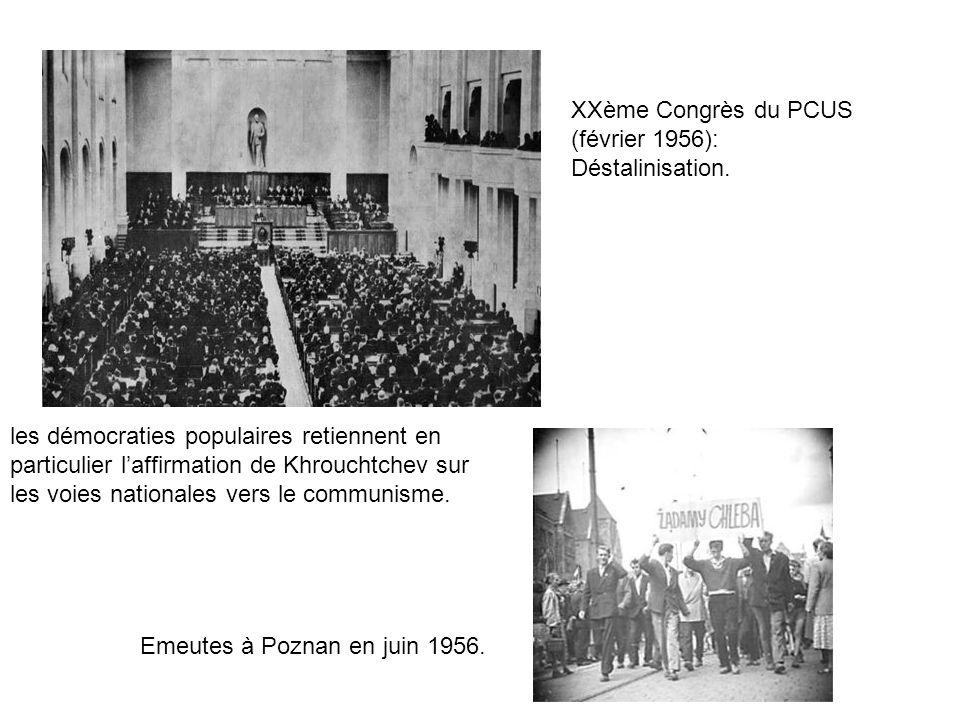 XXème Congrès du PCUS (février 1956):
