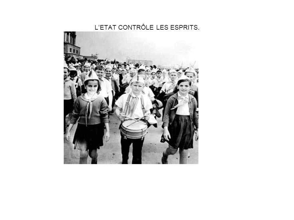 L'ETAT CONTRÔLE LES ESPRITS.