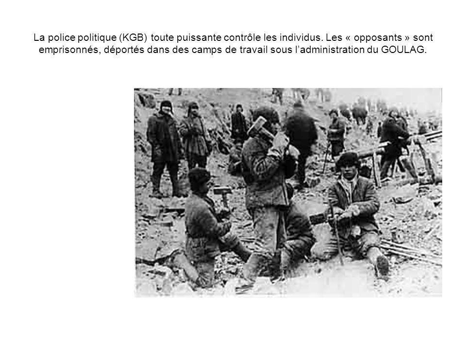 La police politique (KGB) toute puissante contrôle les individus