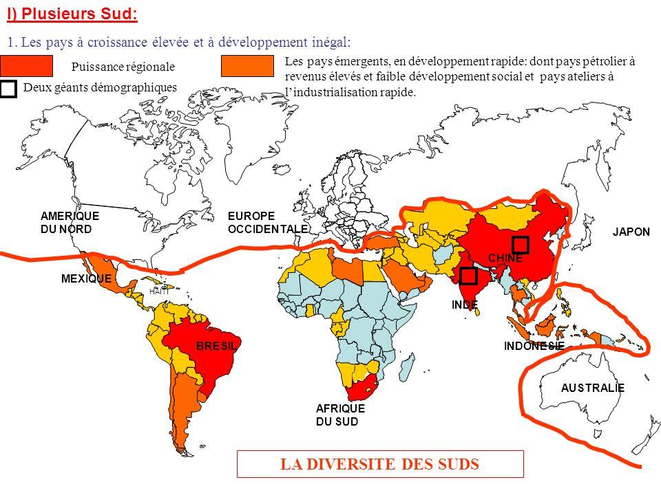 I) Plusieurs Sud: LA DIVERSITE DES SUDS