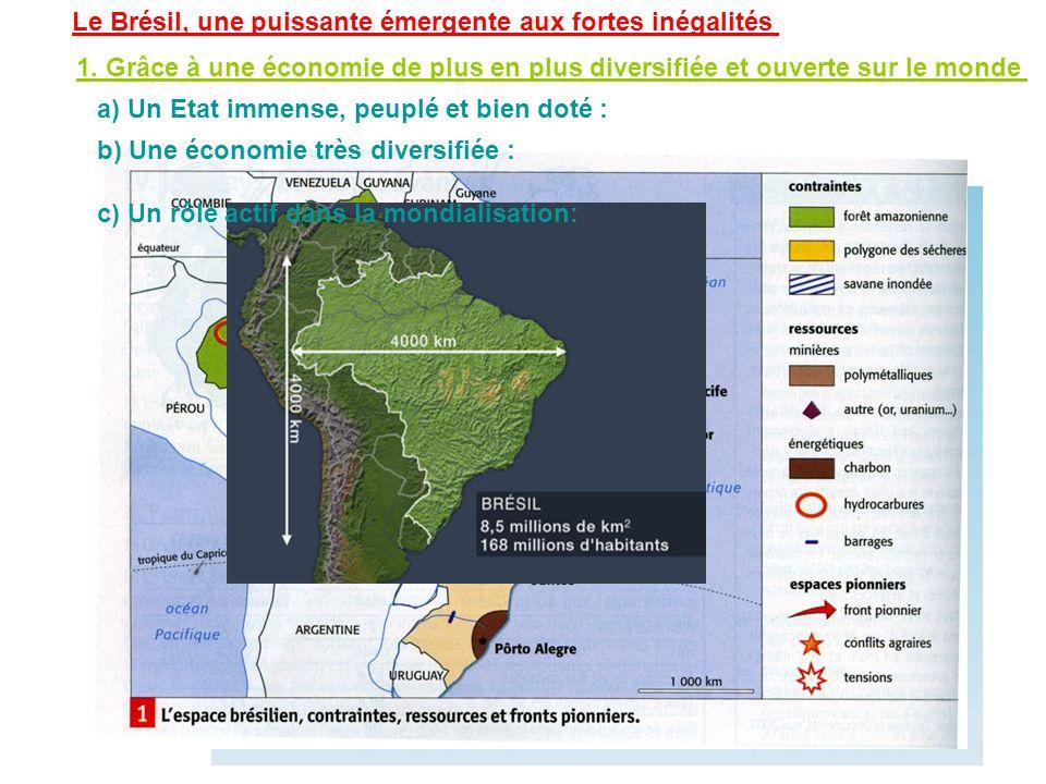 Le Brésil, une puissante émergente aux fortes inégalités