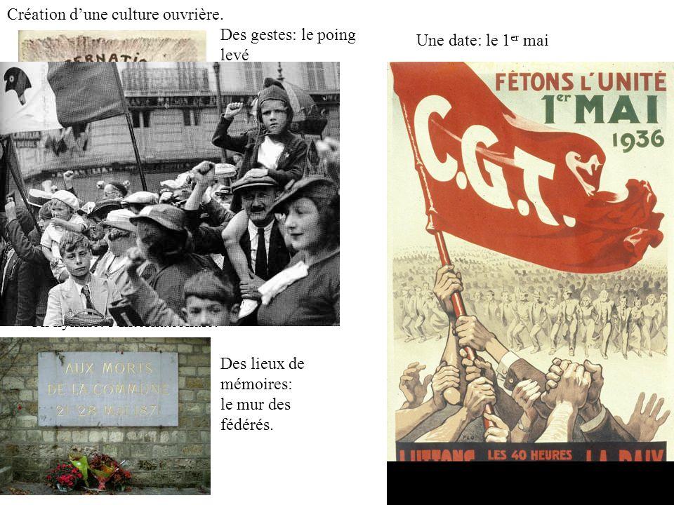 Création d'une culture ouvrière.
