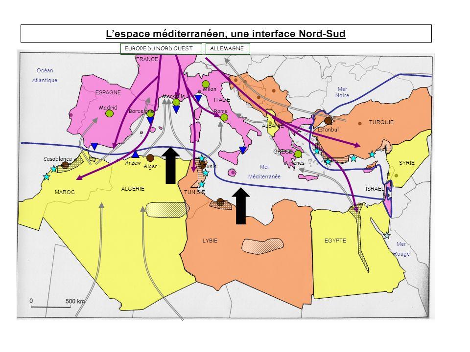 L'espace méditerranéen, une interface Nord-Sud