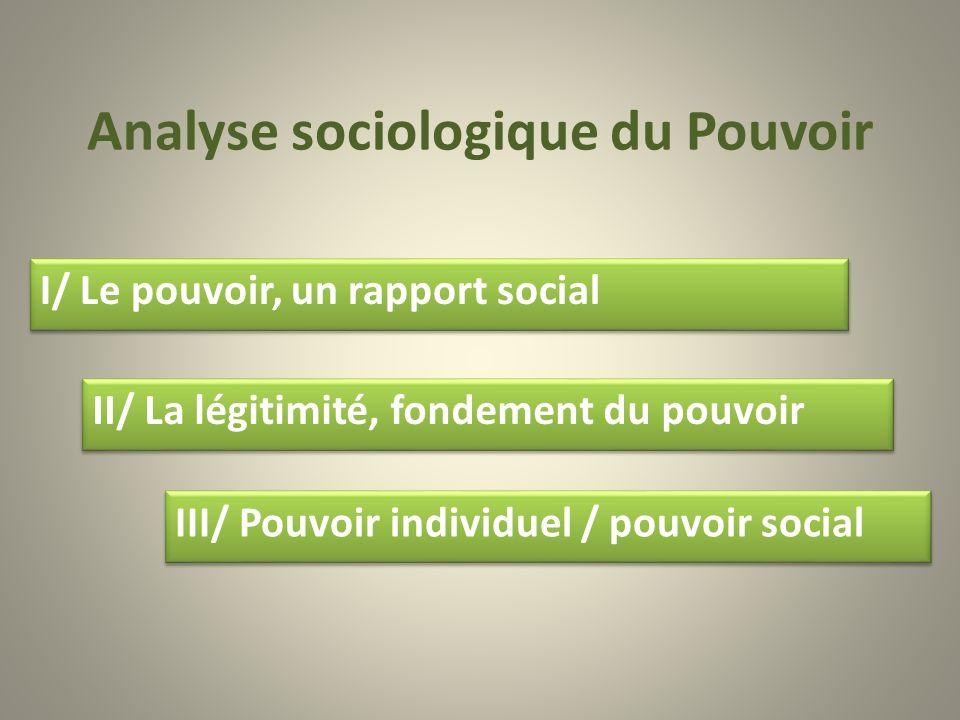 Analyse sociologique du Pouvoir