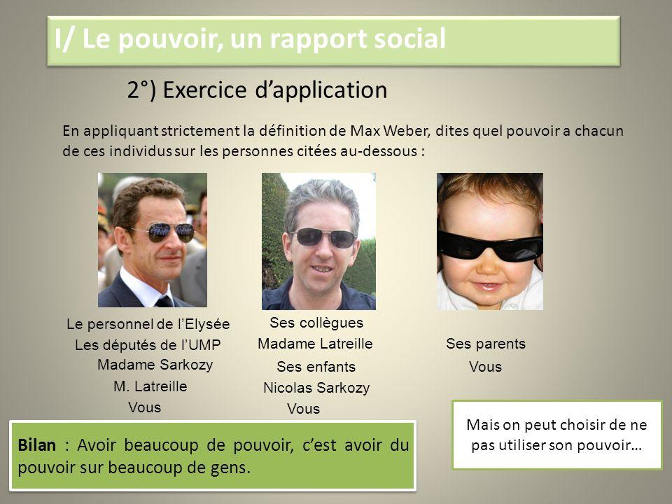 I/ Le pouvoir, un rapport social