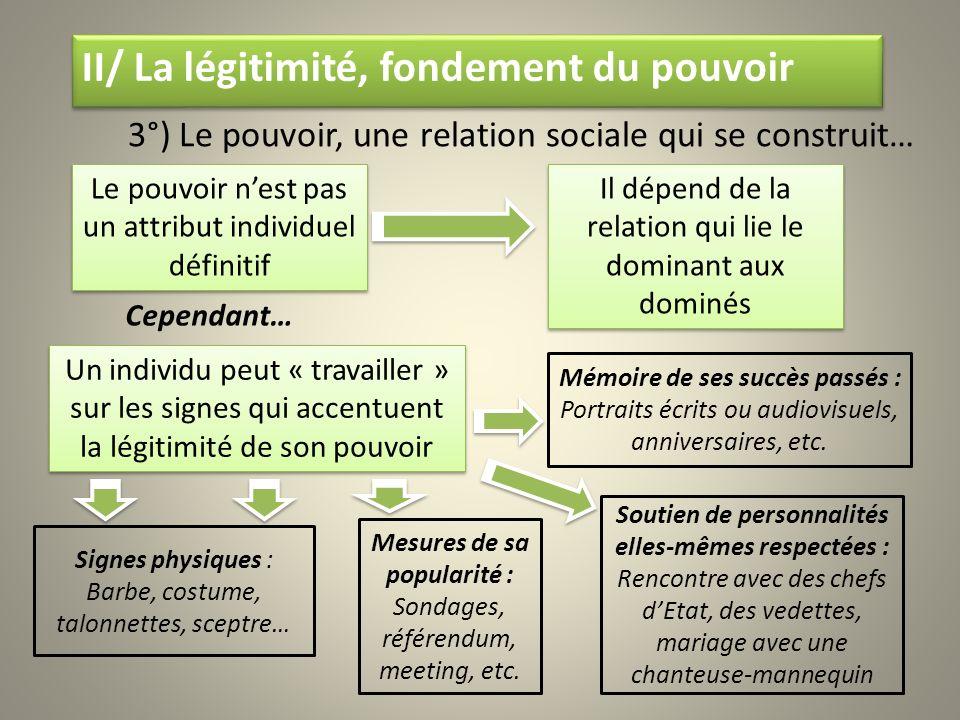 3°) Le pouvoir, une relation sociale qui se construit…