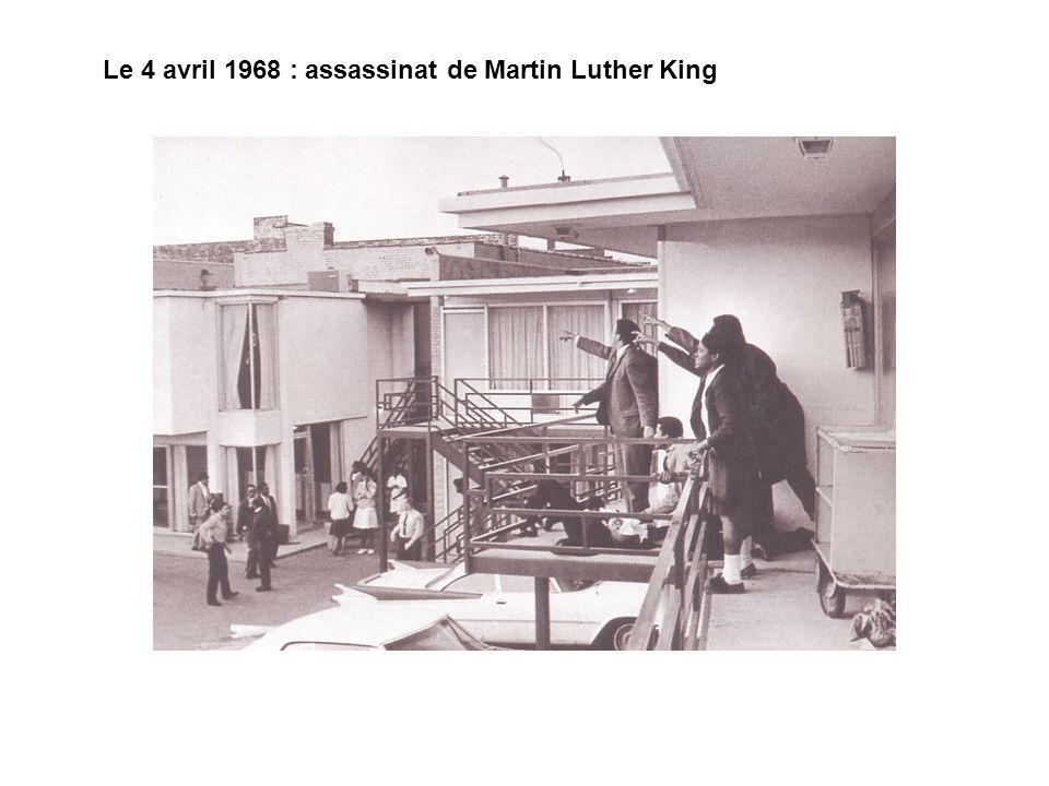 Le 4 avril 1968 : assassinat de Martin Luther King