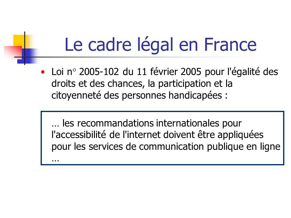 Le cadre légal en France