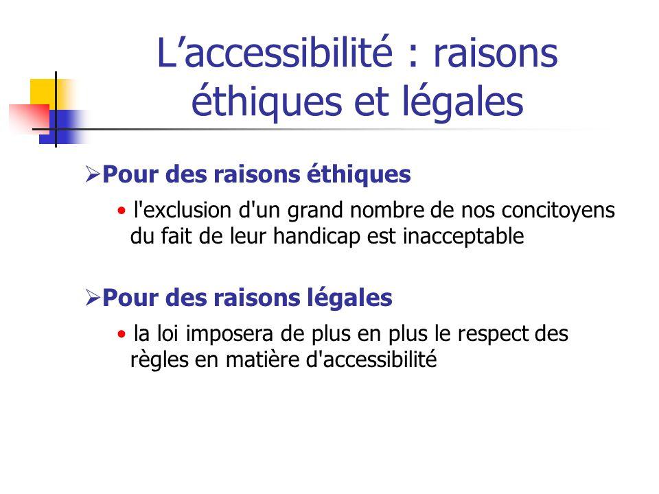 L'accessibilité : raisons éthiques et légales